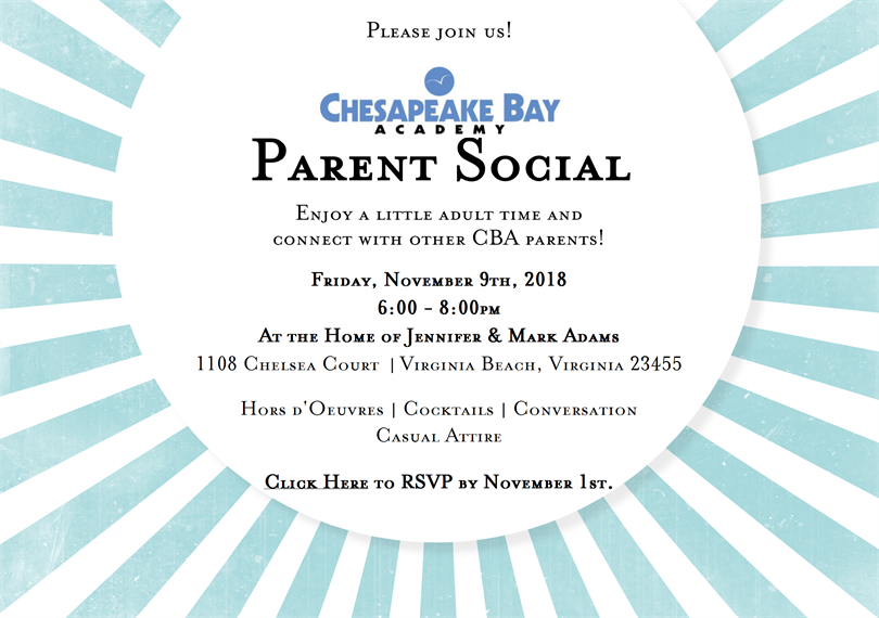 CBA Parent Social Invite