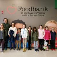 Chesapeake Bay Academy donates approx. 500 lbs of food to the Foodbank of Southeastern Virginia and the Eastern Shore