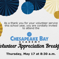 Volunteer Appreciation Breakfast at Chesapeake Bay Academy