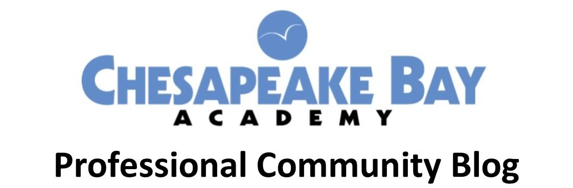 Chesapeake Bay Academy's Community of Professionals Blog